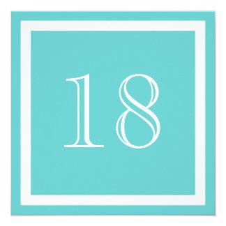 18. Geburtstags-Party Einladung - Aqua
