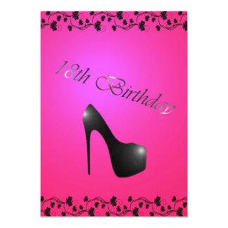 18. Geburtstags-Party Einladung für Mädchen