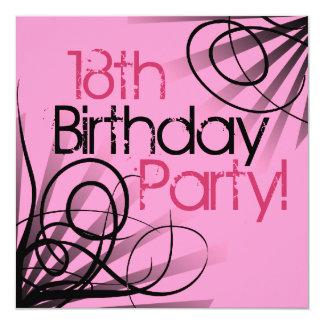 18. Geburtstags-Party Einladungen