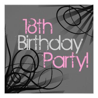 18 Geburtstags-Party Einladungen