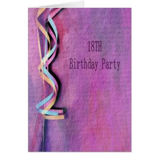 18. Geburtstags-Party Karte