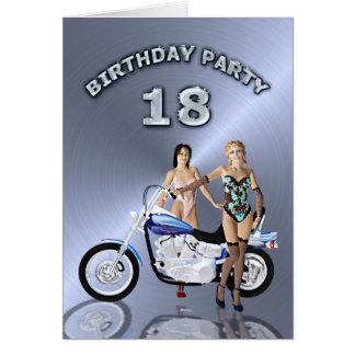18. Geburtstags-Party mit einem Mädchen und einem Karte
