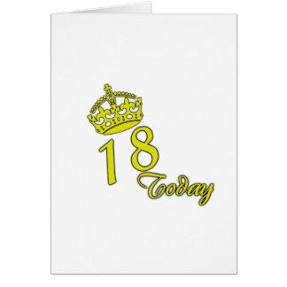 18 heute. Geburtstag Karte