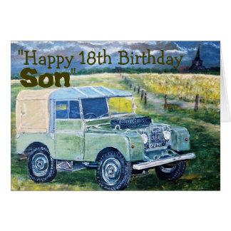 18 Jahre Geburtstags-Karten- Karte