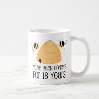 18. Jahrestags-Paar-Geschenk Tasse