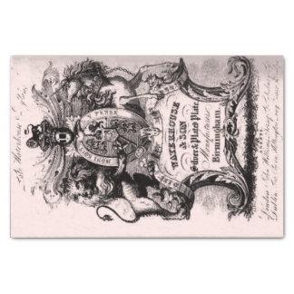 18. Jahrhundert GeschäftsVisitenkarte Seidenpapier