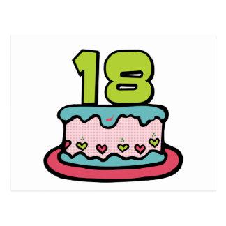 18 Jährig-Geburtstags-Kuchen Postkarte