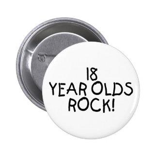 18 Jährige Felsen- Anstecknadelbuttons