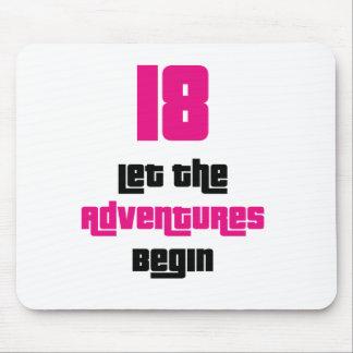 18 lassen Sie die Abenteuer Mausunterlage anfangen Mauspads