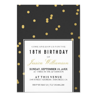 18. Trendy Goldpolka des Geburtstags-Party-| Karte