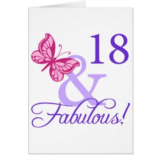 18 und fabelhafter Geburtstag Grußkarten