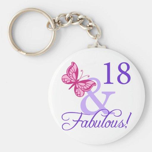 18 und fabelhafter Geburtstag Schlüsselbänder