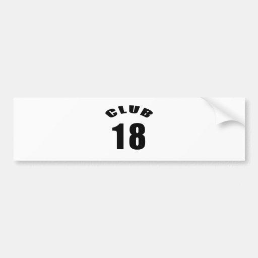 18 Verein-Geburtstags-Entwürfe Autoaufkleber