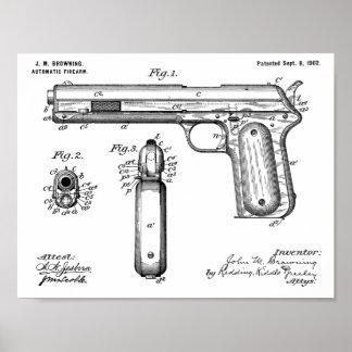1902 die Gewehr-Patent-Kunst brünierend, die Druck Poster
