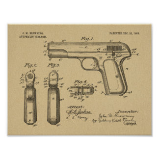 1903 die Gewehr-Patent-Kunst brünierend, die Druck Poster