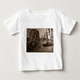 1903 Vintages Holzfäller-magische Laternen-Dia Baby T-shirt