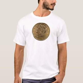 1904 zwanzig Dollar-Münzenfront (Köpfe) oder Geld T-Shirt