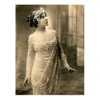 1905 Abends-Kleid Postkarte