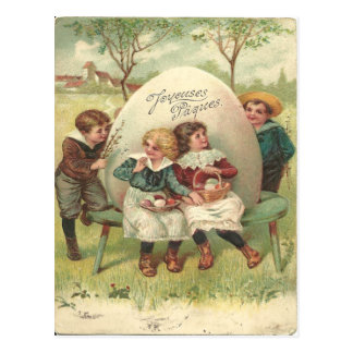 1905 Vintage Joyouses Paques Ostern Postkarte