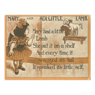 1905 Vintage Mary und ihre Lamm-Reim-Postkarte Postkarten