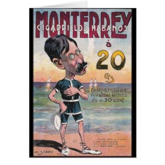 1907 Vintage Monetrrey Zigarren-Anzeige Karte
