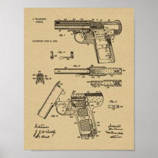 1908 Gewehr Warnant Patent-Kunst, die Druck Poster