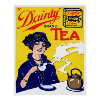 1910 Köstlichkeits-Tee Poster