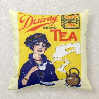 1910 Köstlichkeits-Tee Zierkissen