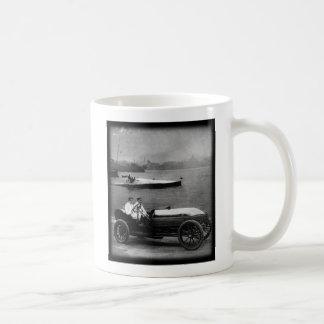 1910 Vintager Rennen-Auto u. Geschwindigkeit Kaffeetasse