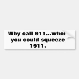 1911 anstelle Autoaufklebers 911 Autoaufkleber