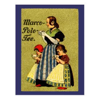 1915 genießen Sie Marco Polo-Tee Postkarten