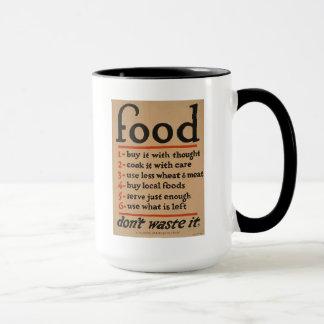 """1917 WWI - """"Nahrung… vergeuden es nicht!"""" Plakat - Tasse"""