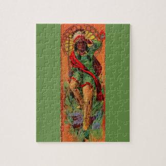 1919 Eingeboren-Ureinwohnerillustration Puzzle