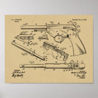 1919 Gewehr-Auto-Patent-Kunst, die Druck zeichnet Poster