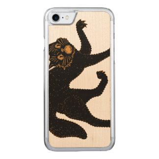 1920 beängstigende schwarze Katze Carved iPhone 8/7 Hülle