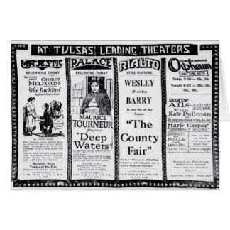 1921 Vintage Zeitungsfilm-Anzeigenkarte John Karte