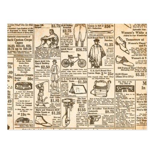 1922 Vintage Zeitungsannonce Postkarten