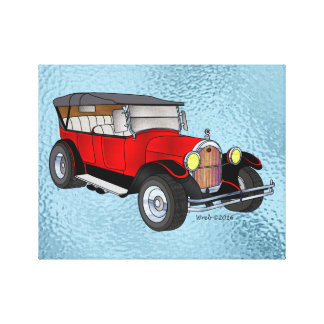 1923 bereisendes Olds, Rot - Leinwanddruck