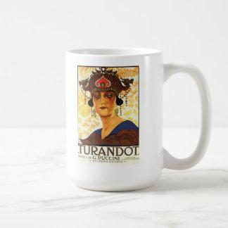 1926 Plakat - Turandot durch Puccini Kaffeetasse