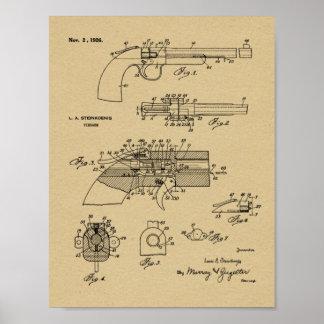 1926 Vintage Gewehr-Patent-Kunst, die Druck Poster