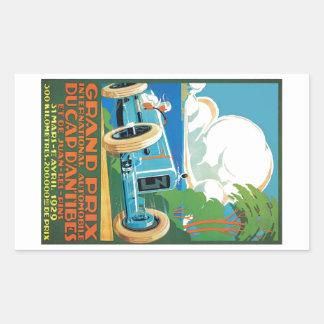 1929 Kappe D'Antibes Grandprix, der Plakat läuft Rechteckiger Aufkleber