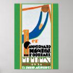 1930 Vintager Weltmeisterschaft-Fußball-Plakatdruc