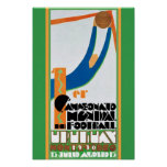 1930 Vintager Weltmeisterschaft-Fußball-Plakatdruc Posterdrucke