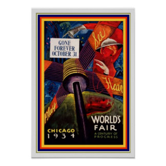 1931 Chicago-Weltausstellung 13 x Plakat 19