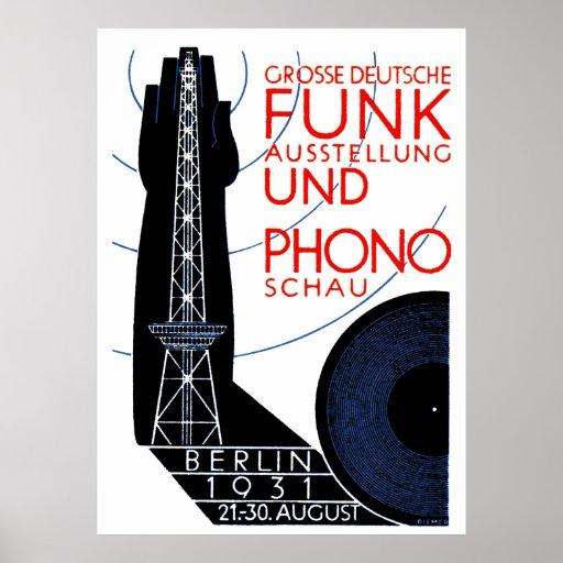 1931 Deutsch-Radio und Musik-Ausstellung Plakat