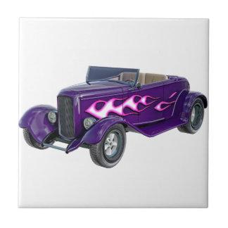 1932 lila Roadster mit Flamme Keramikfliese