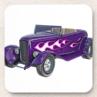 1932 lila Roadster mit Flamme Untersetzer