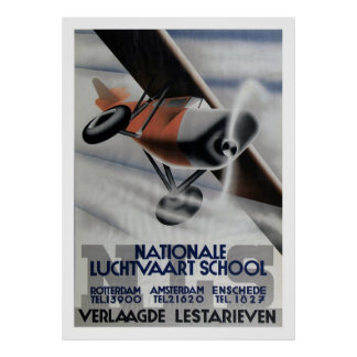 1937 Vintager Luftfahrt-Plakat-Kunst-Deko Poster
