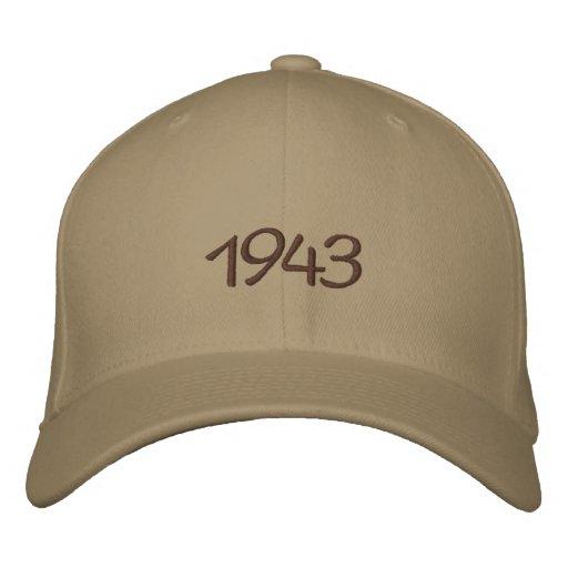 1943 gestickter Hut Bestickte Baseballcaps