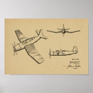1946 Militär-Flugzeug-Patent-Kunst, die Druck Poster